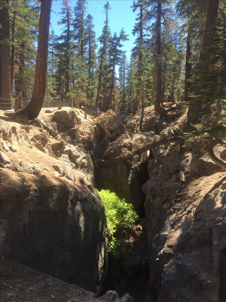 Earthquake fault line-California