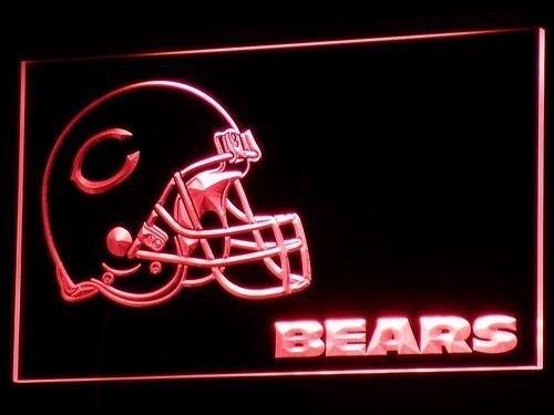 Chicago Bears Helmet Neon Sign On/Off Switch Football Bears Fans Light Sign