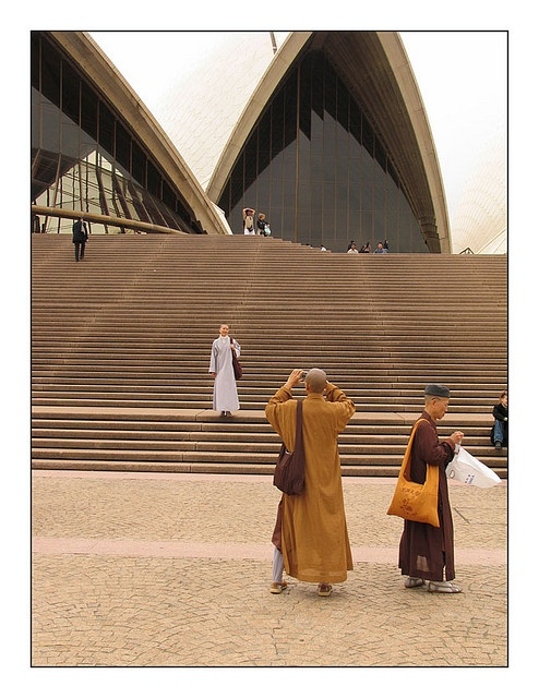 """""""Buddist Monks at the Sydney Opera House"""" by Flickr user Kent Johnson"""