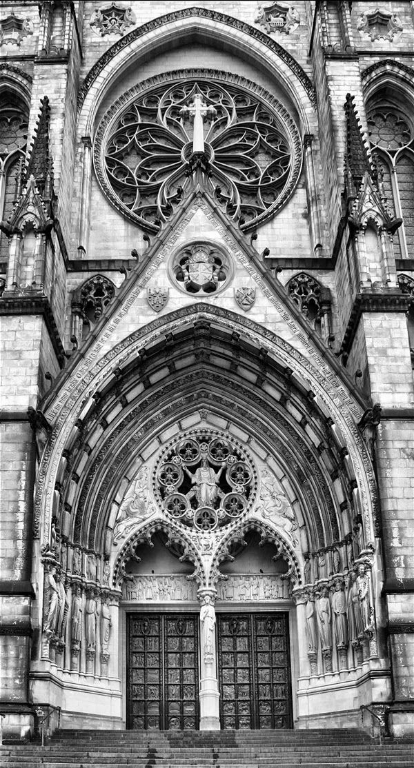 Entrance of The Cathedral of St John the Divine, New York United States
