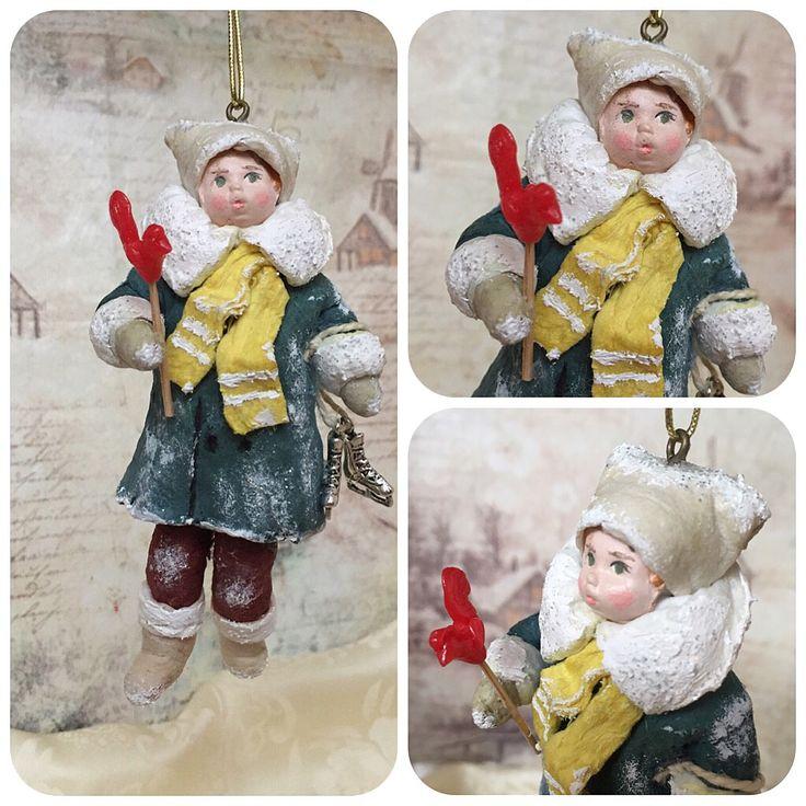 """Ватная игрушка """"Серебряные коньки. Петя-петушок"""" #annettedecor #ватнаяигрушка #хендмейд #handmade #новыйгод #рождество #елочнаяигрушка #игрушканаелку #авторскаяигрушка #ручнаяработа #ватнаяигрушканаёлку"""