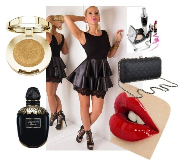 """""""Little black dress"""" by maniaxtreme on Polyvore featuring Alexander McQueen and Milani"""