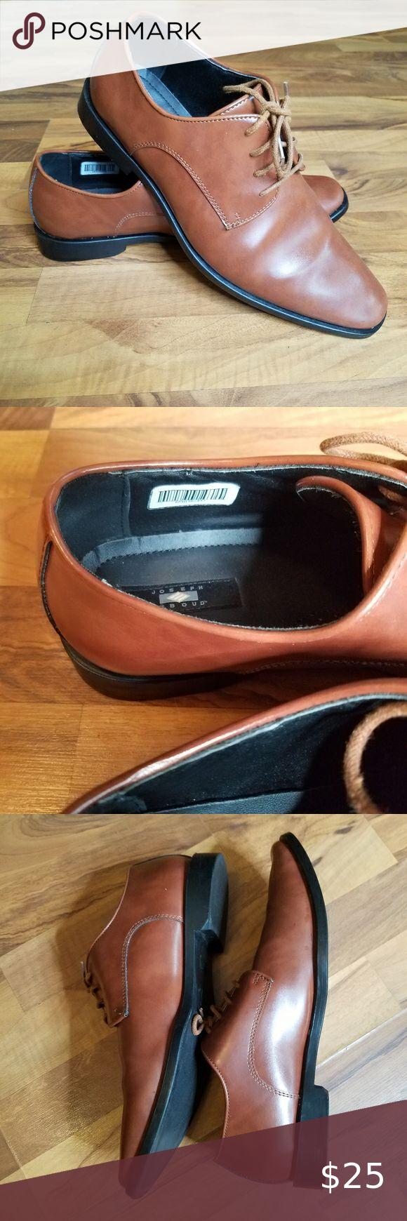 Joseph Abboud Men Brown Leather Oxfords Dress Shoe in 2020