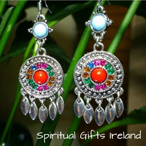 Mandala Wheel Earrings.  🍥These Mandala Wheel Earrings are not gemstones, but the significance of the wheel is of great spiritual importance.  A mandala is an energy circle that represents the universe.  It is a sacred act rich in symbolism.🎆  The outer circle is known as the ring of fire. 🔥 This represents the refining process humans go through on the earthly plane.  The next circle is a ring of diamonds,💎 a sign of illumination and the ultimate goal of spiritual paths. 💫 The innermost…