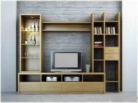 Mẫu Kệ tivi veneer kết hợp đợt trang trí phòng khách chung cư