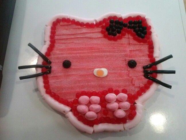 Tarta de chuches de hello kitty mis tartas de chuches - Macetas de chuches ...