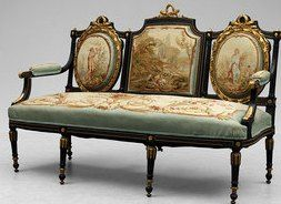 A pair of Napoleon III sofas  by Charles-Guillaume Diehl