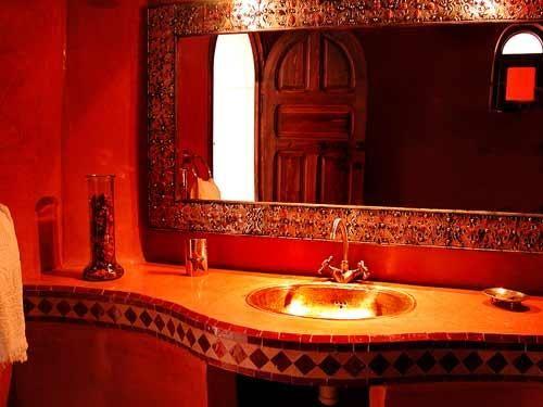 red oriental tadelakt - Tadelakt Salle De Bain Sur Carrelage
