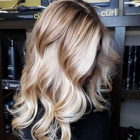 "4,175 Likes, 32 Comments - #MODERNSALON (@modernsalon) on Instagram: ""This magnificent shiny blonde is too beautiful not to share!!@camouflageandbalayage created this…"""