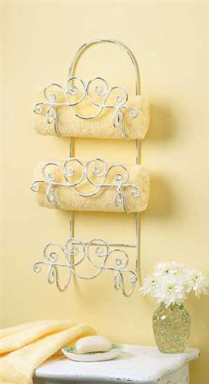Wholesale Cheap Distressed White Wrought Iron Towel Rack