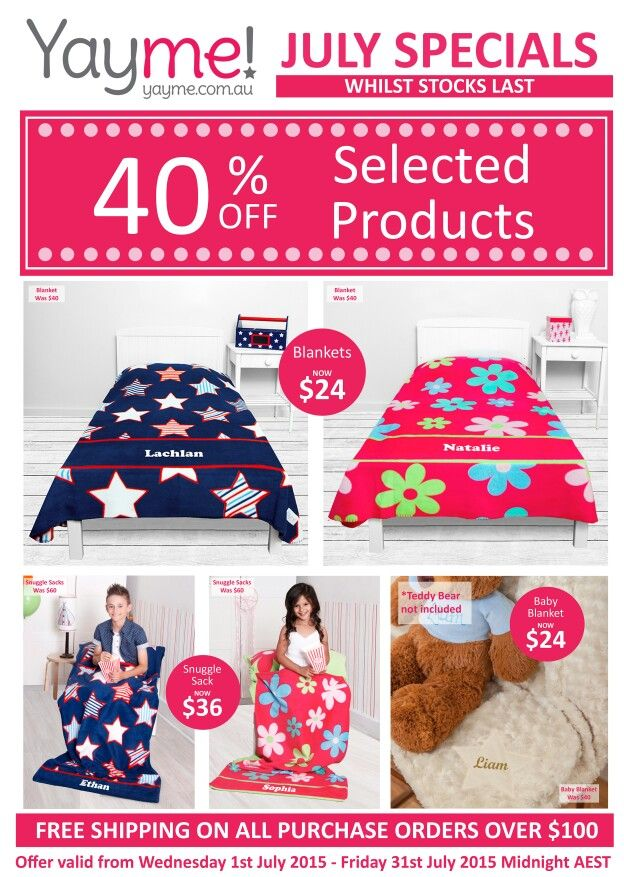July Specials - www.yayme.com.au/christinen  and go to the 'specials/promotions' tab to order!