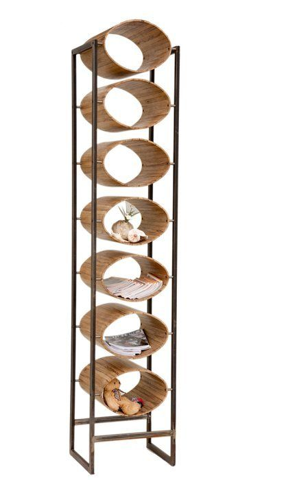 High oval shelves stand by Aviad Mishaeli | סטנד גבוה של מדפים אובלים, אביעד מישאלי