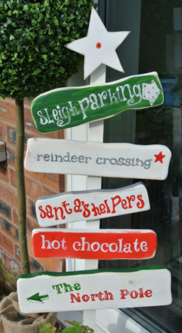 Welcome guests! Northpole handmade quirky wooden sign www.islandhouseuk.com