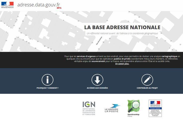 La famille France open data s'agrandit avec la Base adresse nationale (BAN)  Poussés par Etalab, La poste et l'IGN ont accepté de partager leurs données avec le site de cartographie open source OpenStreetMap, pour créer la première base adresse nationale (BAN) collaborative française gratuite : adresses.data.gouv.fr.