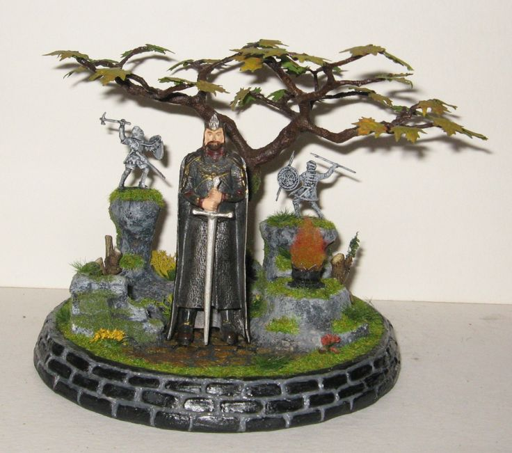 Diorama fantasy King, Lord of the rings