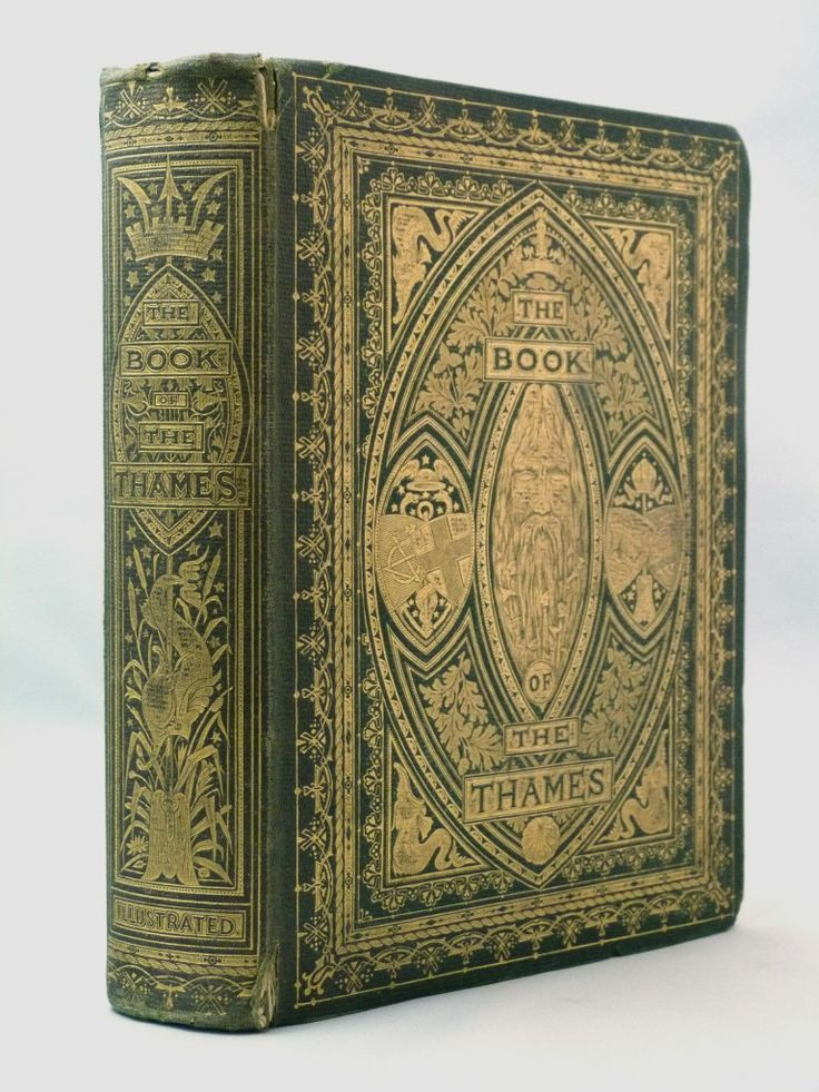 The Book of the Thames - 1859, in a sumptuous initialled binding by John Leighton showing Old Father Thames