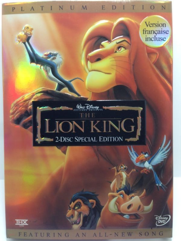 The Lion King (DVD, 2003, 2-Disc Set, Platinum Edition; Features an All-New Song #ad