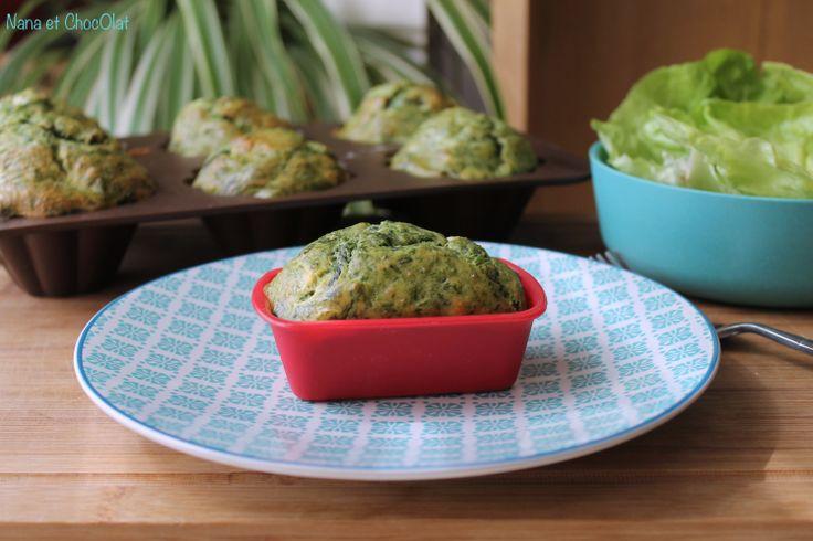 Muffins légers, aux épinards et à la féta