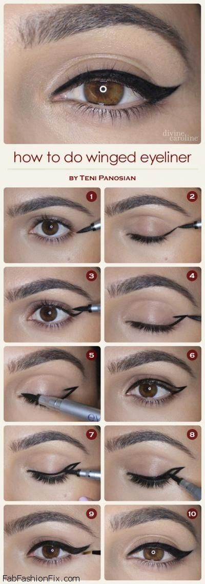 How to do winged eyeliner?