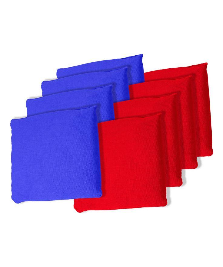 Blue & Red Bean Bag Set
