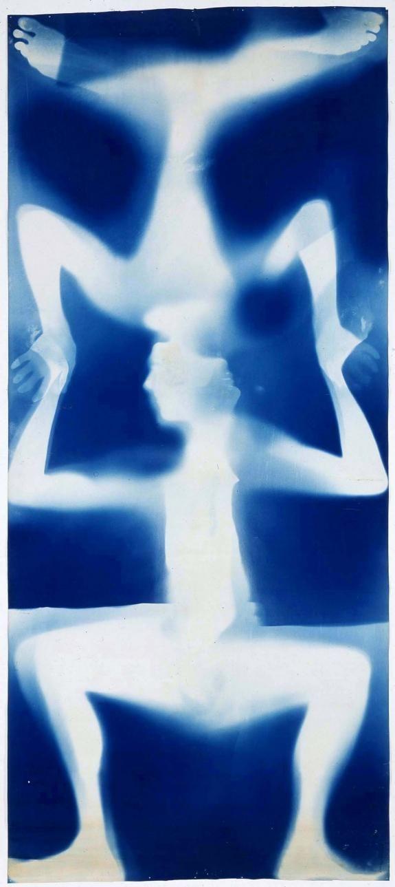 Untitled [double Rauschenberg] CA. 1950 Robert Rauschenberg and Susan Weil Monoprint: exposed blueprint paper