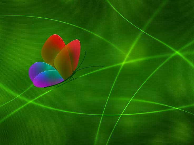 Rainbow Butterfly, Color 3 (Обои)