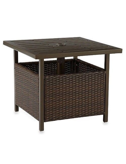 wicker patio side table resin is used as the main material
