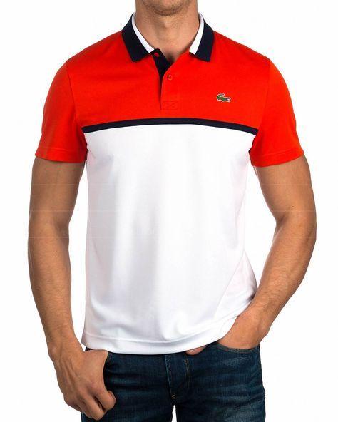 Polos Lacoste ® Rojo & Blanco - Oficial | ENVIO GRATIS