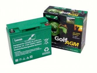 Batteriesontheweb offers 12-volt golf cart batteries for sale-GOLF TROLLEY BATTERIES 12V 22AH for golf or mobility, with a next working day delivery.