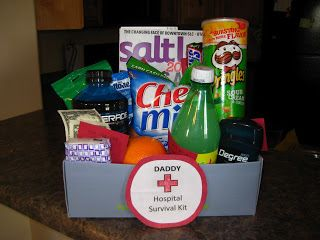 Daddy Hospital Survival Kit-Caleb will need this-he got hungry!!!