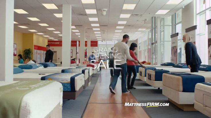 AbanCommercials: Mattress Firm TV Commercial  • Mattress Firm advertsiment  • Sleep Train celebration helps you save • Mattress Firm Sleep Train celebration helps you save TV commercial • It's the Grand Opening Sale to celebrate Sleep Train becoming Mattress Firm. We are so excited we needed a Mattress Firm sale. Come in now and save $500 storewide and sleep interest free until 2021. Big changes and big savings!