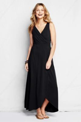 Women's Fit and Flare Maxi Dress from Lands' End... I need one!