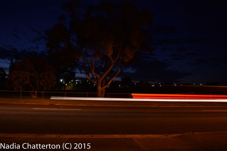 L1M2AS3- Shutter Priority, Blurred motion eg Travelling car showing trail of rear lights. Taken using a tripod, f/3.5 0.8 ISO-200 Nikon D5500