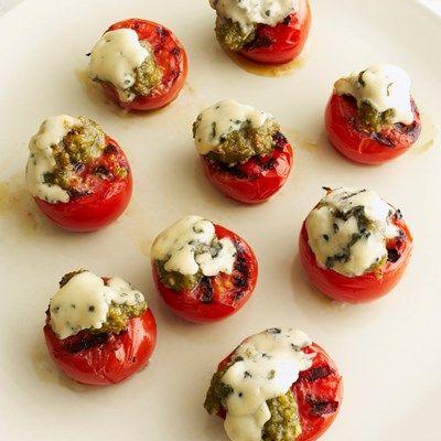 Gegrillte Tomaten mit Castello Blue