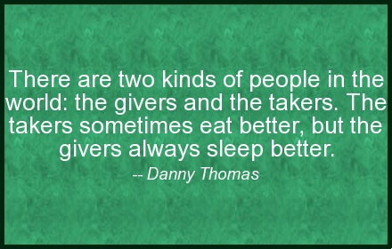 [Words of Wisdom] Danny Thomas - Givers and Takers