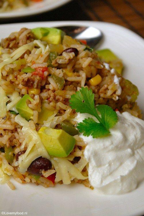 Mexicaanse rijstschotel - Lovemyfood.nl