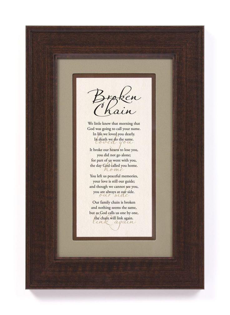 The Broken Chain in memory of my son, Ben.
