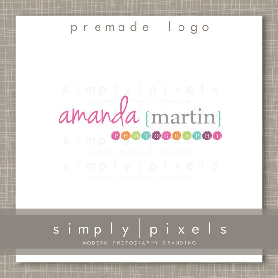 Premade Logo and Watermark  Photography  Logo222 by simplypixels, $10.00