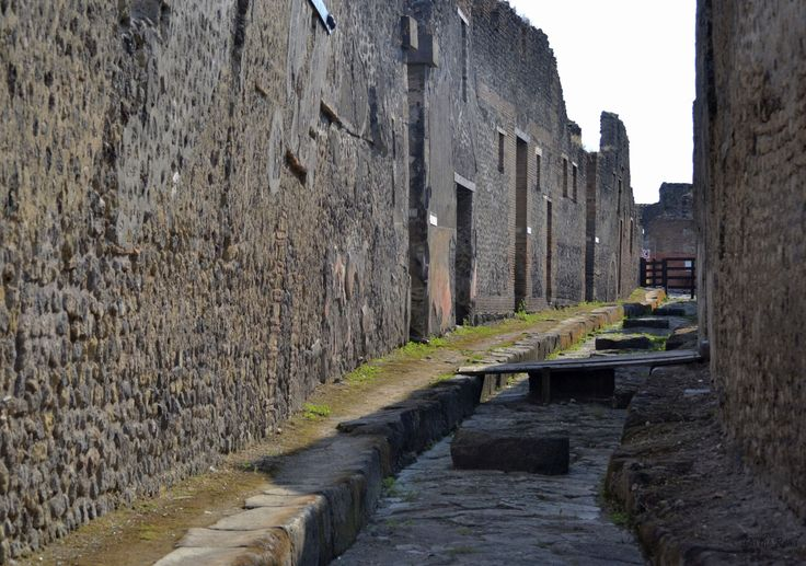 This is probably one of the oldest sites I've ever visited. It's a tiny alley in the ancient city of Pompeii.