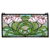 Found it at Wayfair - Tiffany Calla Lily Stained Glass Window