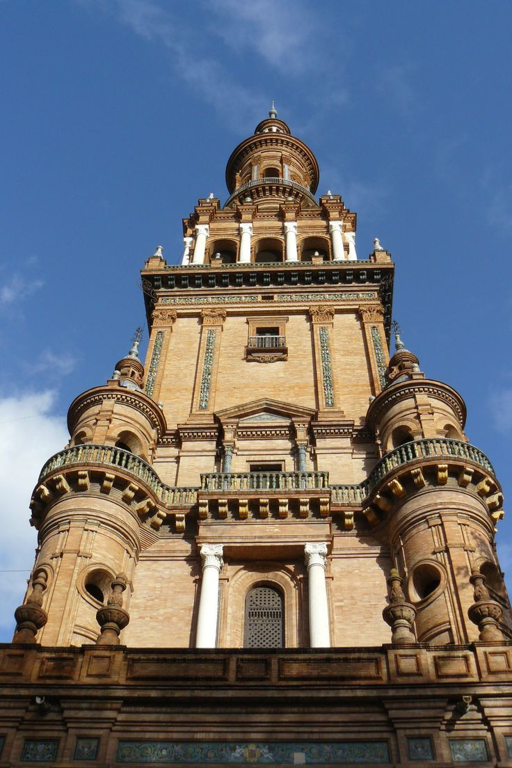 The Andalusian towers of Seville Spain.  www.traveladept.com