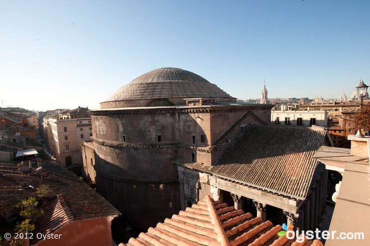 View of the Pantheon from the Terrace at the Albergo Del Senato, Roma.: Undoctor Photo