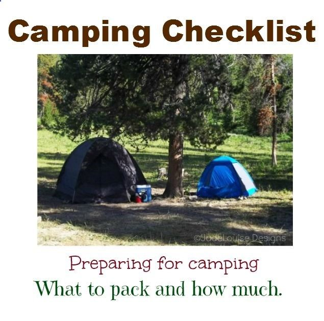 Backyard Camping Checklist : Camping checklist, Outdoor ideas and Camping on Pinterest