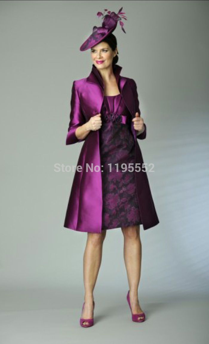 Cheap lace cincher, Buy Quality lace up leather dress directly from China lace dresses on sale Suppliers: 2014 Purple Tiered Half Sleeve With Lace Jacket Short Wedding Guest Mother of Bride Dress Suit Outfit Vestidos De Fiesta