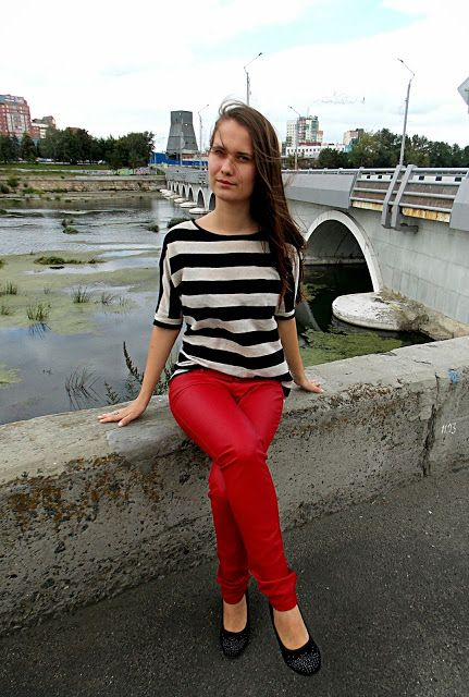 Fashion Your Days: Red Leather Look