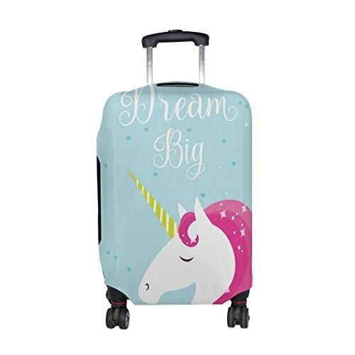 MyDaily Unicorn And Stars Travel Luggage Cover Spandex Protector Fits 23-32 Inch Suitcase M