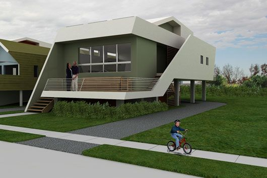 small futuristic home plans (cool!)