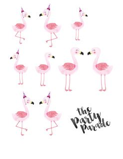 Mini Flamingo Printable Freebie