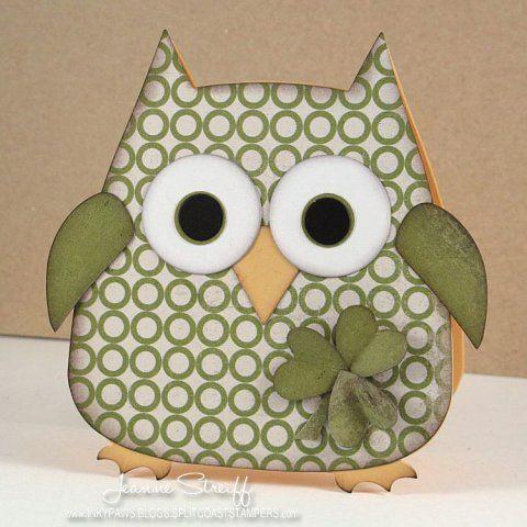 Shamrock Owl | Inky Paws | Jeanne Streiff | Sizzix