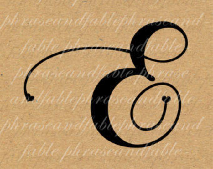 Lettera E Cuore 276 Digital Download Alfabeto iniziale Nome Glyph carattere font Tipografia clipart